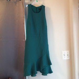 Banana Republic green dress with ruffles